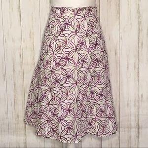 Christopher & Banks Floral Print Skirt